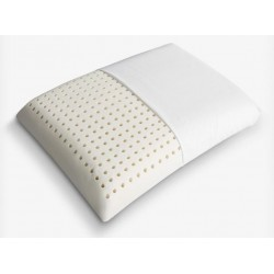 Perforated organic linen pillow, 60x40, in natural latex.