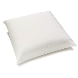 Organic linen 60x60 perforated pillow in natural latex.