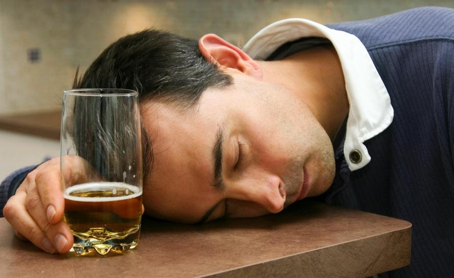 The alcohol and the sleep.