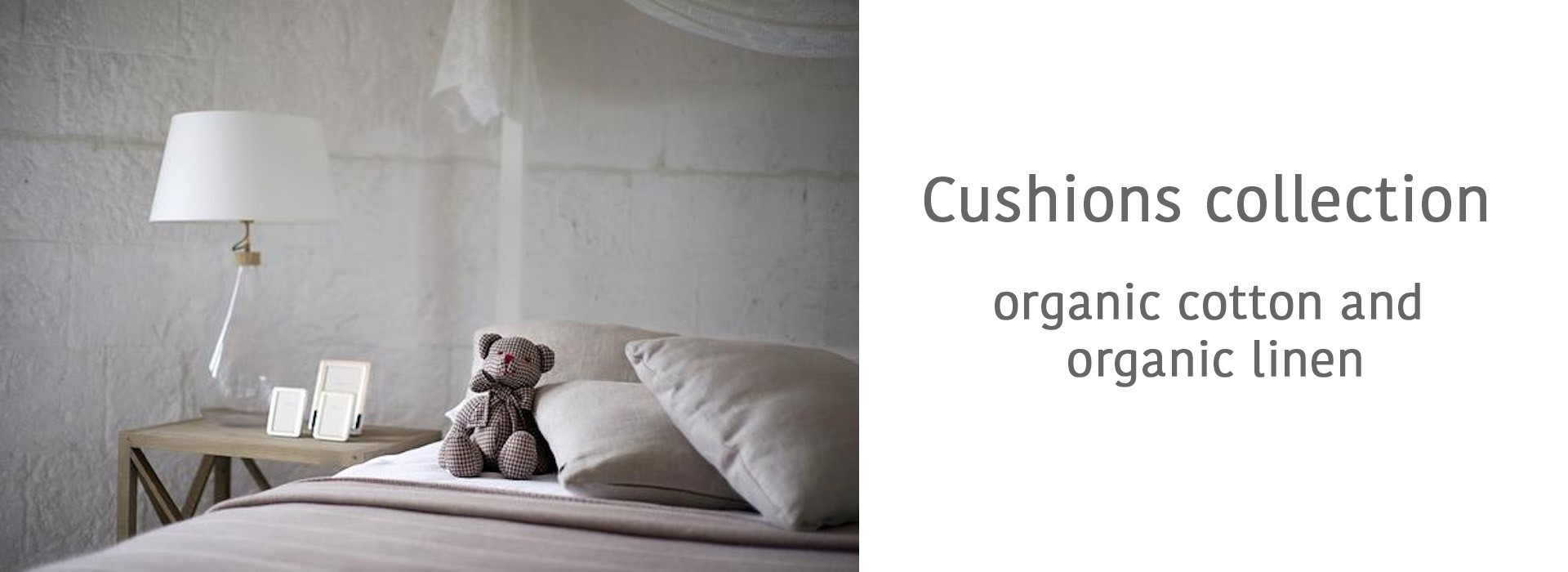 100% NATURAL ORGANIC COTTON OR ORGANIC LINEN LATEX PILLOWS.